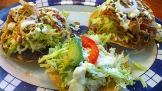 Vegetarian Mexican Tostada