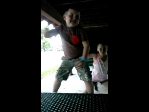 6 year old singing transformers theme song