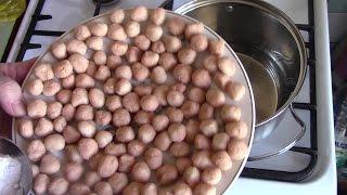 Клецки картофельные Молочный суп Ну,оОчень вкусный супчик! Картофельные шарики