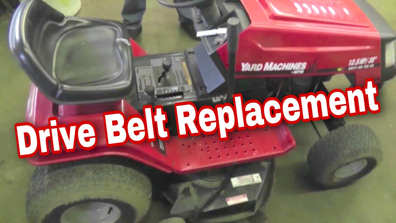 How To Replace The Drive Belt On An MTD Variable Speed Riding Mower ...