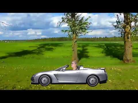 Татьяна едет на машине )))) Смешные видео. Green screen Chroma Key dans mes vidéos