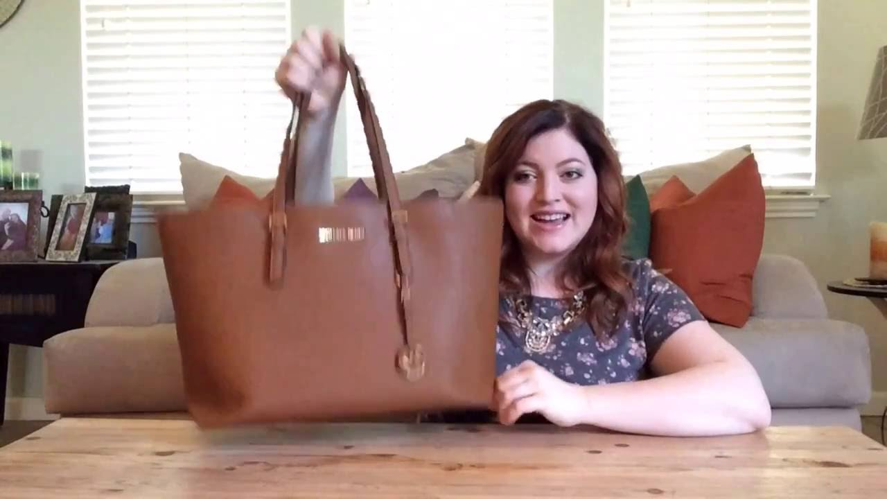 32f47665e054 Michael Kors Jetset Travel Tote Review Dupe for LV Neverfull! - YouTube