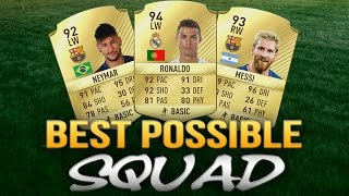 Fifa 17 Squad Builder: Best Possible Team (ft. Ronaldo, Messi & Co)