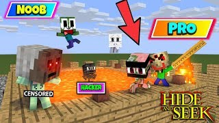 Monster School : NOOB VS PRO HIDE and SEEK SCERET PLACE - Minecraft Animation