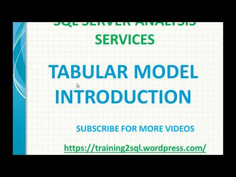 Tabular Model in SSAS | Introduction to Tabular Model in SSAS