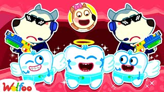 Bodyguard Wolfoo Protects Baby Lucy's Angel Teeth - Kids Stories About Baby Tooth | Wolfoo Family