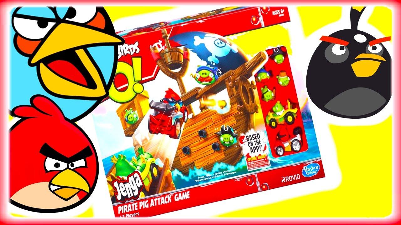 Игровой набор Игрушки Playskool Злые Птички и Пират Дженга играем вместе Обзор игрушек для детей