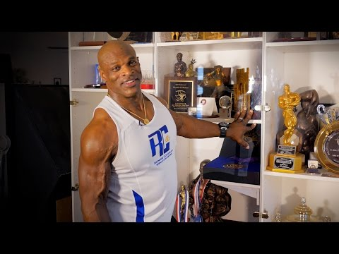 An Inside look at the Trophy Case of 8X Mr. Olympia Ronnie Coleman