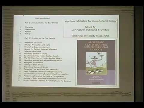 IMA Public Lectures : Algebra, statistics, computation and biology; Bernd Sturmfels