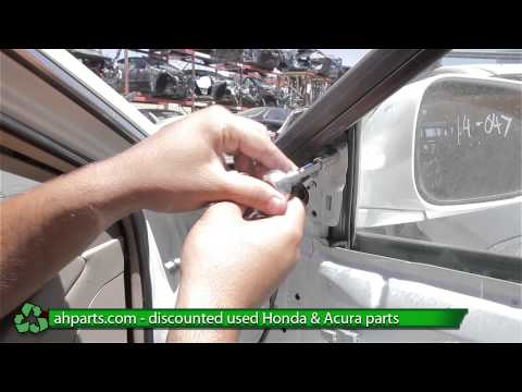 How to replace / change a Side view mirror 1998 1999 2000 2001 2002 Honda Accord REPLACE DIY