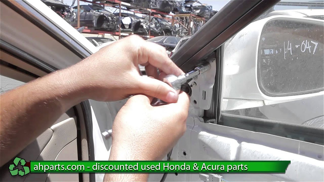 medium resolution of how to replace change a side view mirror 1998 1999 2000 2001 2002 honda accord replace diy youtube