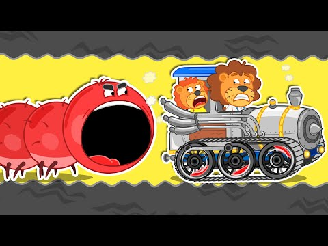 Lion Family 🐛 Journey to the Center of the Earth #18. Millipede | Cartoon for Kids