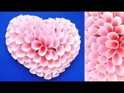 DIY Paper Craft. Paper Heart Design Valentine's Day and Room Decor Ideas. Easy Valentine's Crafts 71