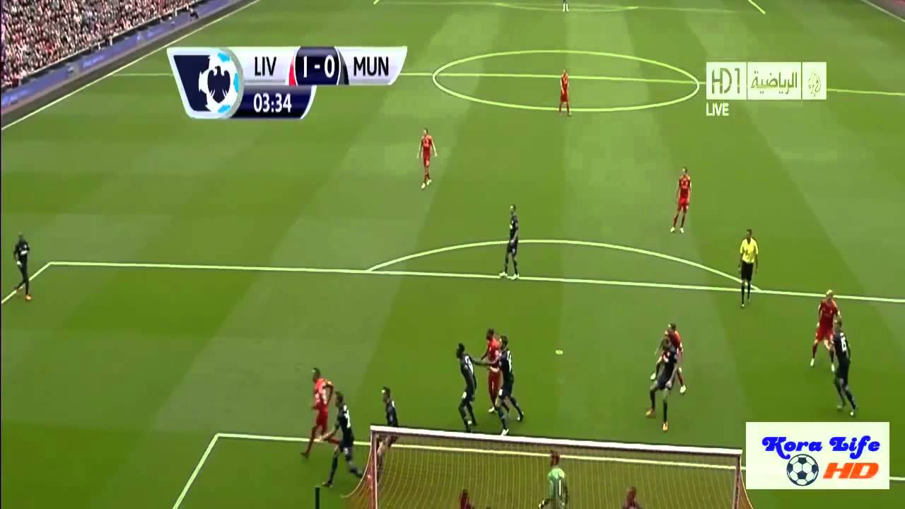 Liverpool vs manchester united 1-0 2013-2014 - YouTube