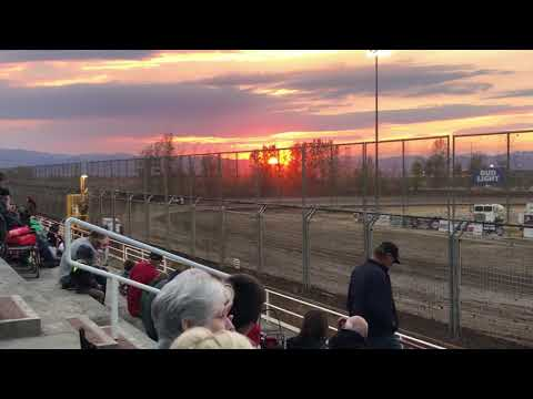 """Jeffrey """" Leroy"""" Hudson first ever laps in an IMCA modified at Southern Oregon Speedway"""