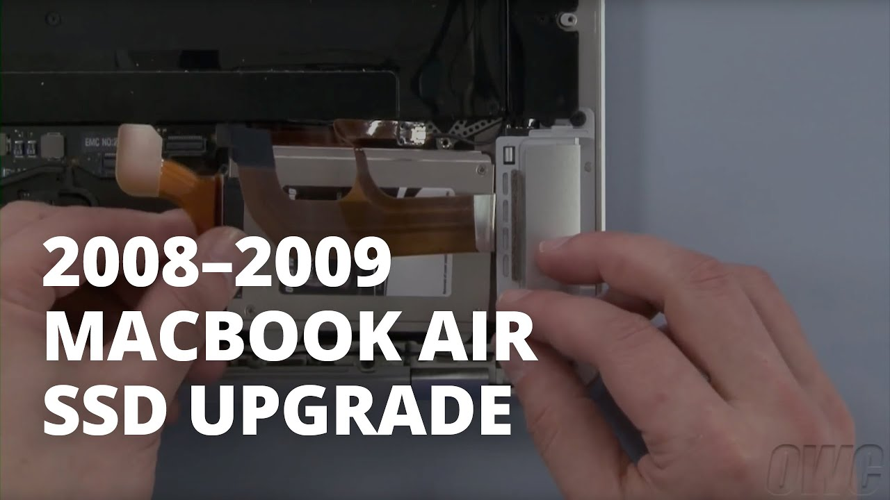 How To Upgrade The SSD In A MacBook Air Late 2008 2009