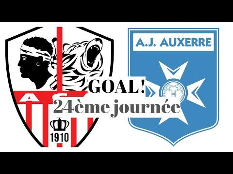 AC Ajaccio Auxerre Goals And Highlights