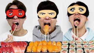 目隠しで食べた寿司ネタ外したら即自腹!!【スシロー】