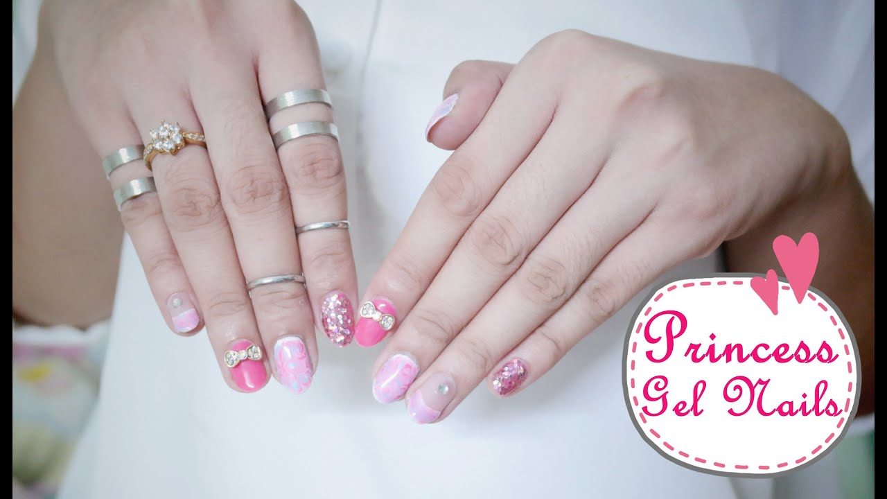 Etude House Enamelting Gel Polish - Princess Nails - YouTube
