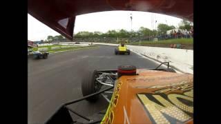 Brisca F2. On board s100 George MacMillan Jr at Cowdenbeath Racewall. 17/05/2014