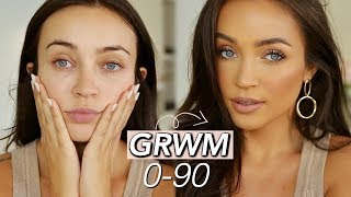 GRWM: 0-90 *in a hurry using new products*