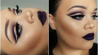 One of Makeup with Jah's most viewed videos: Dramatic Cut Crease & Dark Matte Lips | Makeupwithjah