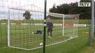 Gerrard, Rooney, Barkley & Lampard shooting practice at England training
