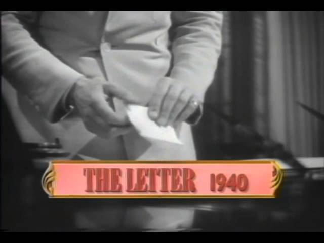 The Letter 1940 Movie