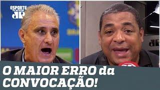 """""""Ele joga MUITO!"""" Vampeta DESABAFA e aponta o MAIOR ERRO da convocação de Tite!"""