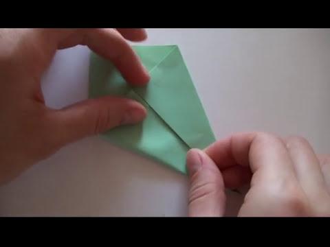 Оригами. Дерево и куст из