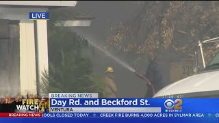Neighbor Brings In Water Truck To Help Fight Ventura Fire