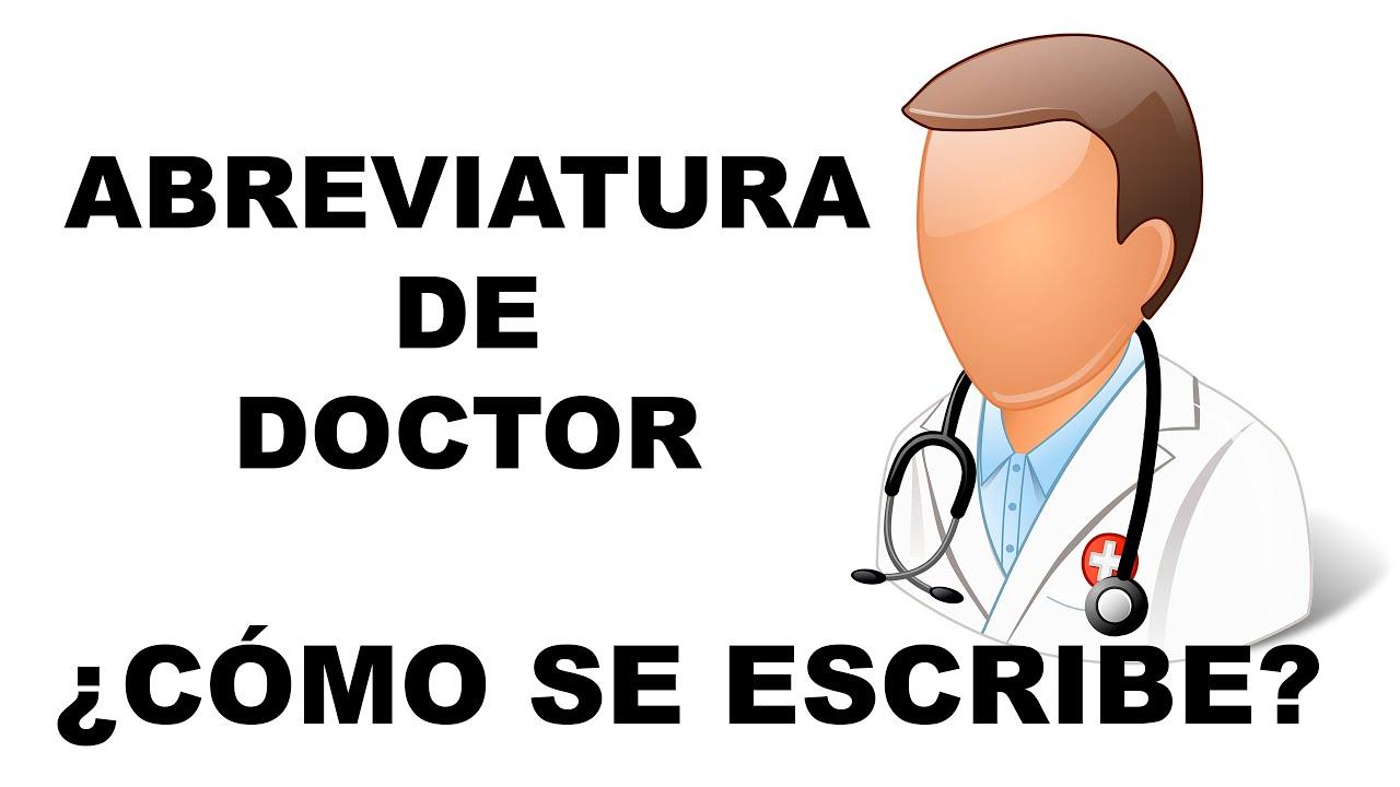 Abreviatura De Doctor  ¿ Cómo Se Abrevia Doctor ? Youtube