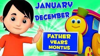 บ๊อบรถไฟ | พ่อปีเดือน | หนึ่งปีมี 12 เดือน | สื่อการเรียนการสอน สังคม | Father Year Months | Bob