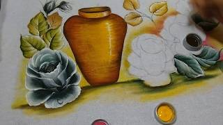 Roberto Ferreira – Pintura Rosas Negras Parte 2
