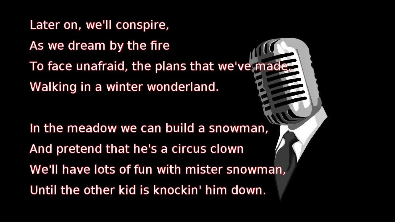 walking in a winter wonderland lyrics pdf