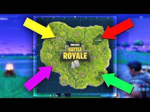 4 CORNER CHALLENGE in Fortnite Battle Royale?!