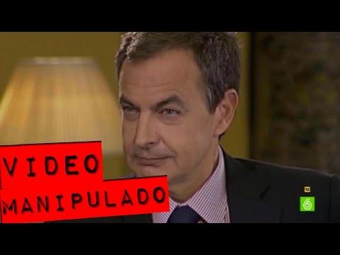 Vídeo manipulado: José Luis Rodríguez Zapatero recibe malas noticias.
