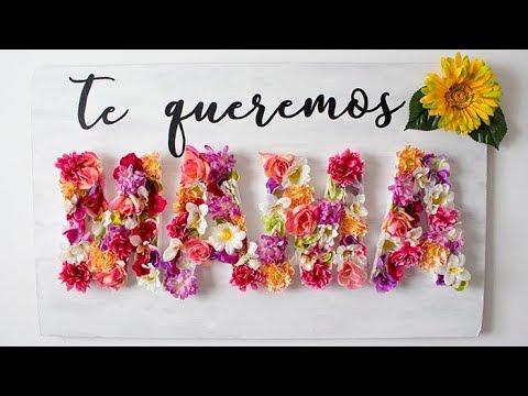 Mural De Flores Dia De La Madre Diy Hazlo Tu Mismo Youtube