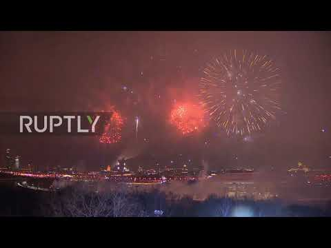 Russia: Sparks fly as Moscow celebrates Defender of the Fatherland Day