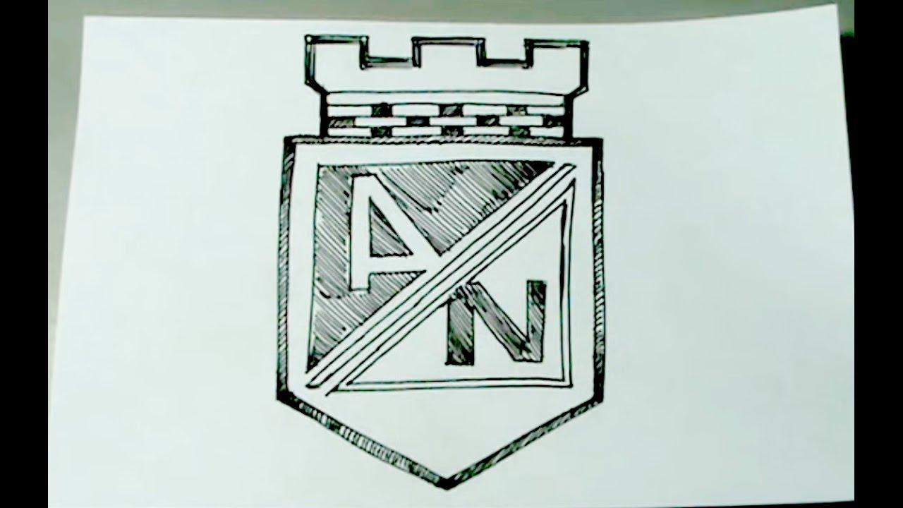 C mo dibujar facil el escudo oficial del atl tico nacional for Dormitorio para dibujar facil