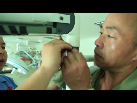 How to install operating light for surgical room