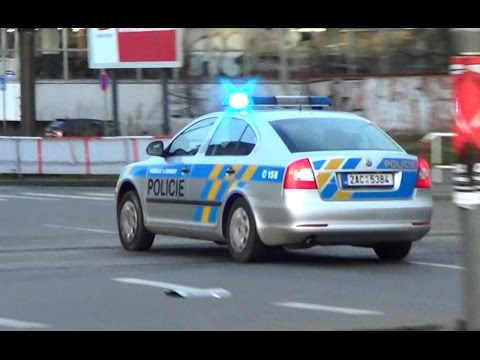 Czech state police cruiser responding in Prague | Policie ČR Praha zasahuje [3.2014]