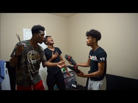 I CUT CHRIS GUCCI SLIPPERS PRANK FROM CHRIS AND TRAY!!!