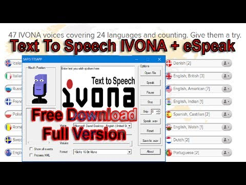 Text To Speech IVONA Free Download Full Version 2017| How To