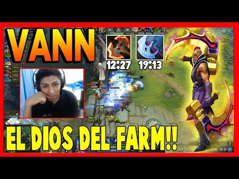 VANN COMPRANDO BATTLE FURY MINUTO 12 CON SU ANTI-MAGE | DOTA 2