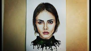 GOOD PEOPLE Draw with me #4 (Cara Delevingne)(Ее брови собирают в Instagram лайков больше, чем ваши котики! Она молодая, талантливая и невероятно интересная...., 2016-02-21T17:07:46.000Z)