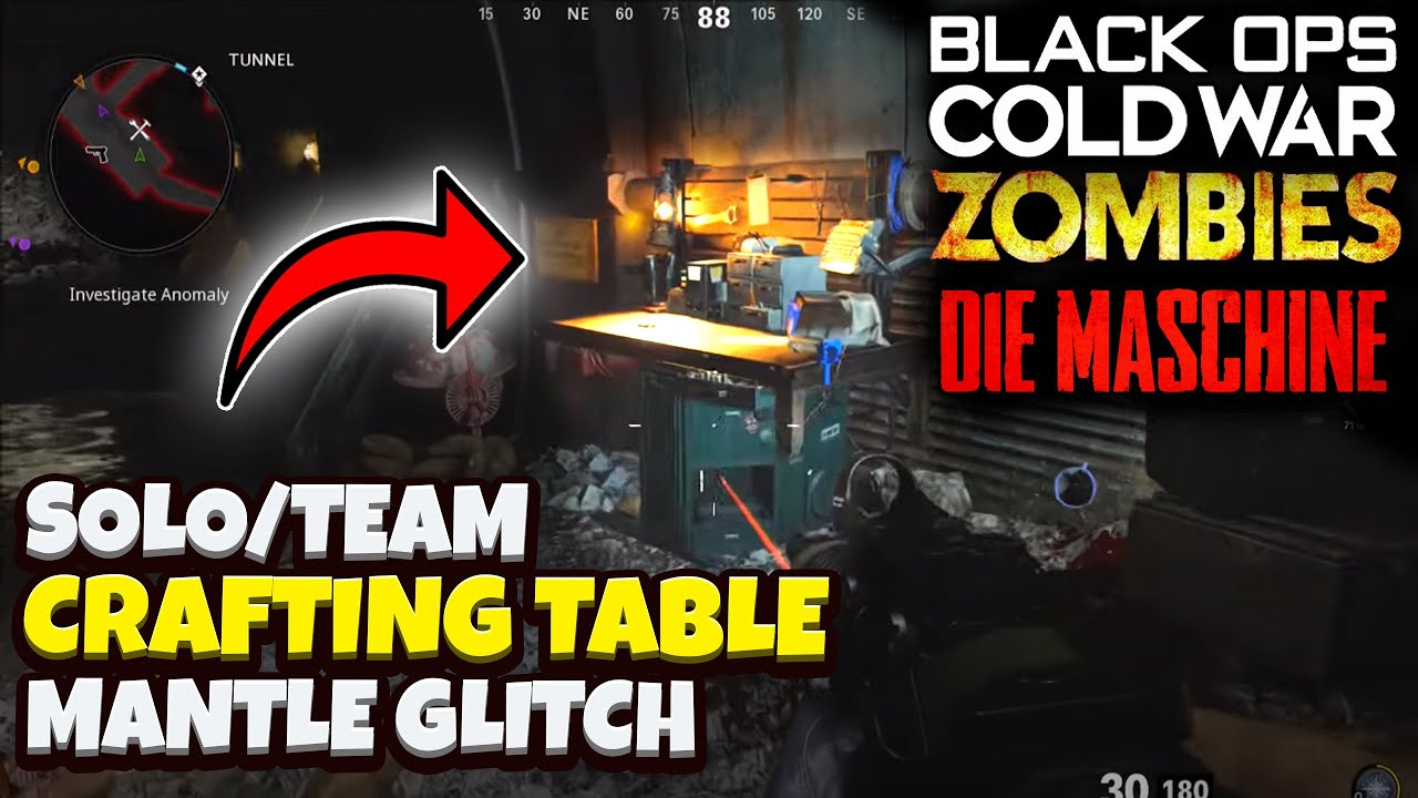 Black Ops Cold War Zombies Glitches Crafting Table Mantle Pile Up Glitch Die Maschine Glitch Youtube