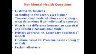 Key Mental Health Questions for VCE Psychology Exam