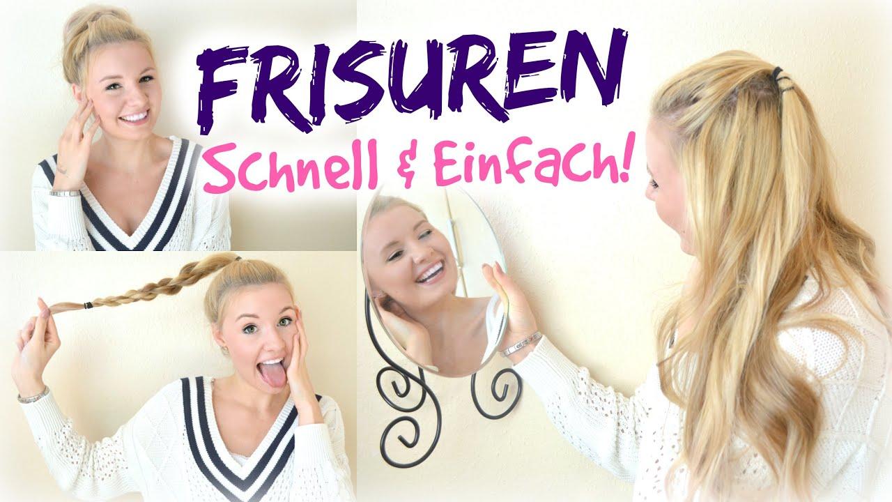 EINFACH & SCHNELLE FRISUREN Für Die SCHULE UNI & SPORT! YouTube