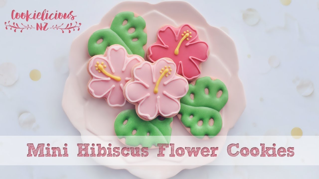 How to decorate simple hibiscus flower cookies how to decorate simple hibiscus flower cookies izmirmasajfo